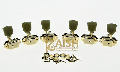 $ CDN23.32 • Buy Gold 3L3R Deluxe Tuning Pegs Keys Guitar Tuners Machine Heads Fits LP Epiphone