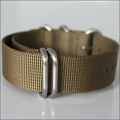 $9.95 • Buy 5-Ring Sand Watch Strap, Military-Style Nylon Band With Matte Finish Buckle