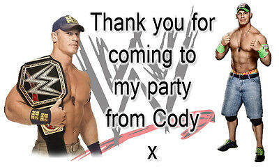 Personalised WWE Wrestling Party Bag Sweet Cone Stickers Labels Favours Divas • 1.28£