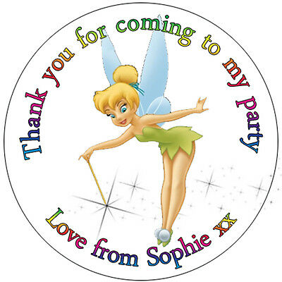 £1.28 • Buy 35 X Personalised Tinkerbell Labels 37mm Stickers Party Seals Sweet Cone Bags