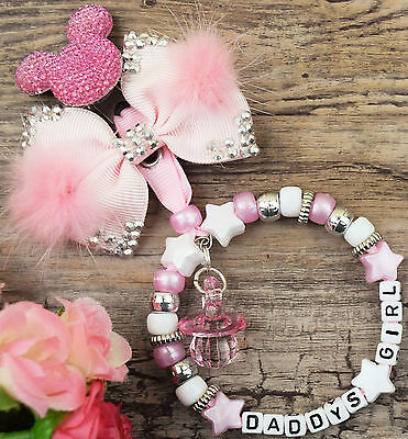 £7.99 • Buy Personalised Stunning Pram Charm  For Baby Girls Boys Ideal Gift  Pink And White
