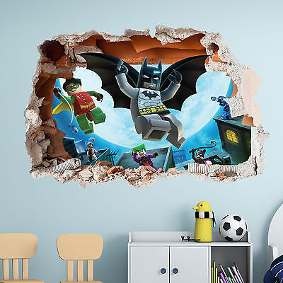 Lego Batman Wall Sticker  - 3d Boys Girls Bedroom Vinyl Wall Art Decal • 25.07£
