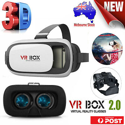AU19.72 • Buy 2nd Gen VR Headset VR BOX Virtual Reality Glasses 3D For Samsung IPhone Huawei