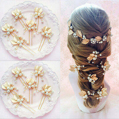 $ CDN4.56 • Buy Wedding Bridal Bridesmaid Pearl Flower Headpiece Hair Pin Hairpin Accessories