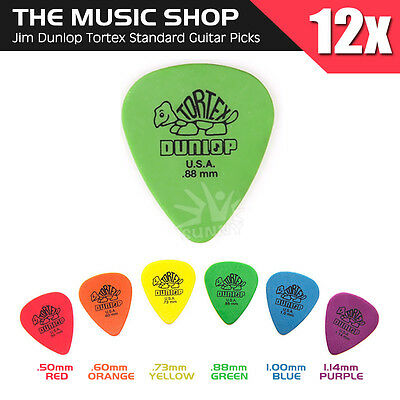 AU6.35 • Buy 12 X AU Jim Dunlop Tortex Standard Mixed Gauges Guitar Picks Plectrums Starter