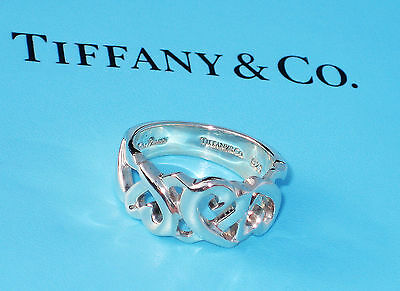 Tiffany & Co Paloma Picasso Sterling Silver Loving Heart Band Ring • 159.99£