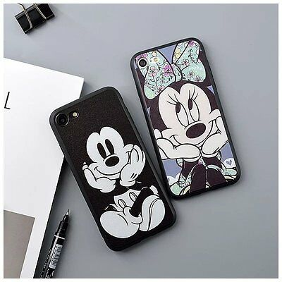 AU4.93 • Buy Disney Cartoon Mickey Minnie Back Phone Case Cover For IPhone XS X 6s 7 8 Plus