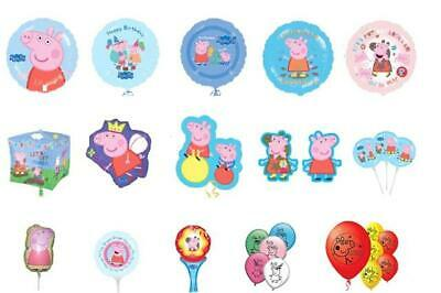 PEPPA PIG & GEORGE Latex, Foil, Cubez, Supershape Foil Balloons, Lots Of Choice • 2.49£