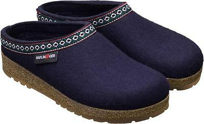 HAFLINGER FRANZL MITTLEBLAU SLIPPERS FOR MAN & WOMAN BLUE IN WOOL FELT Tyrolean • 64.86£