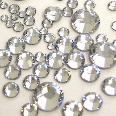 1000 Clear Crystal Silver Flat Back Acrylic Rhinestones Diamante Beads 3 4 5&6mm • 3.49£