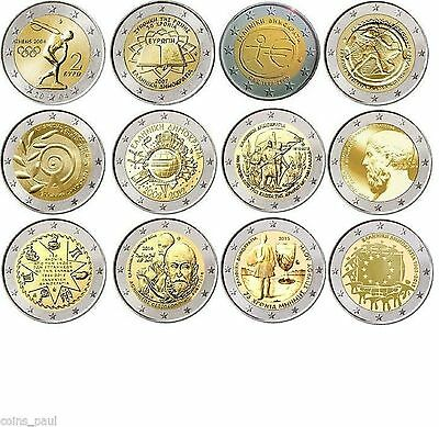 $ CDN85.41 • Buy Greece  Grece Grecia Griechenland  Complete 2  Euro  Greek Coin  Collection  Unc