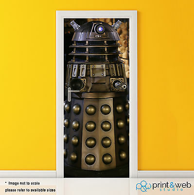 Dr Who Dalek Box Vinyl Door Wrap Decal Sticker Self Adhesive Police Box Bedroom • 39.99£