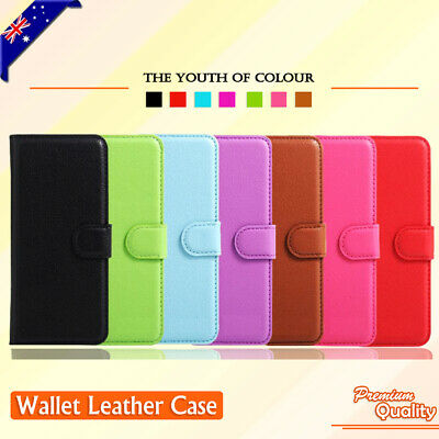 AU6.85 • Buy For Samsung Galaxy J7 Prime | J5 Prime Leather Wallet Card Holder PU Case Cover