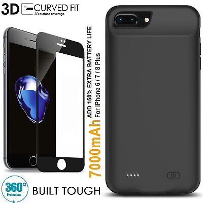 AU68.99 • Buy Shockproof Portable 150% Power Battery Case Charger For IPhone 6 7 8 Plus SE2 AU