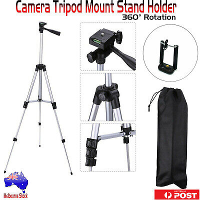 AU9.33 • Buy Portable Tripod Stand Mobile Phone Holder Bracket For Digital Camera Smartphones