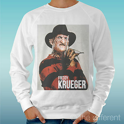 Men's Sweatshirt Light Sweater White   Freddy Krueger   Road To Happiness • 26.99£