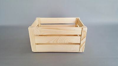 Wooden Crate Box Plain Wood Storage Boxes Chest Small Craft Decoupage Crates • 5.35£