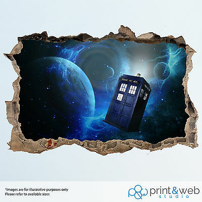 Dr Who Wall Smash Decal Sticker Bedroom Vinyl Kids Mural Art • 11.99£