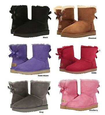 £97.36 • Buy NEW Authentic UGG Women's Bailey Mini Bow Boots Shoes Black Chestnut Pink Grey