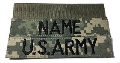 $7.99 • Buy 2 Piece ACU Name & US ARMY Tape Set, With Fastener - Military