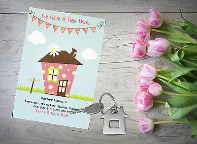 10 Personalised Handmade Change Of Address New Home House Moving Cards AC29 • 4£
