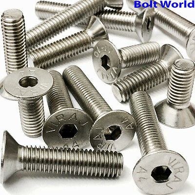 £2.32 • Buy A4 Marine Grade Stainless Steel Countersunk Bolts Socket Screws M4,m5,m6,m8,m10