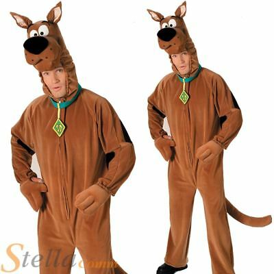 Scooby Doo Costume Mens Licensed Cartoon Halloween Fancy Dress Adult Outfit • 38.98£