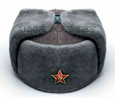 1f43cd89f5df8 Authentic Soviet Russian Red Army Ushanka Winter Hat All Sizes Shoose A 5  Badge • 31.95