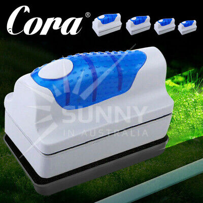 AU13.69 • Buy Magnetic Aquarium Fish Tank Glass Algae Glass Cleaner Scrubber Floating Brush
