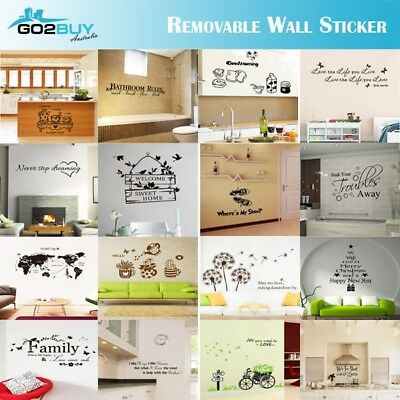 AU3.45 • Buy Wall Stickers Removable Art Vinyl Quote Decal Mural Home Room DIY Decor Windows