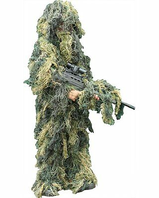 KIDS ARMY GHILLIE SUIT ~ New Children's Boys Camouflage Netting Sniper Suit • 29.99£