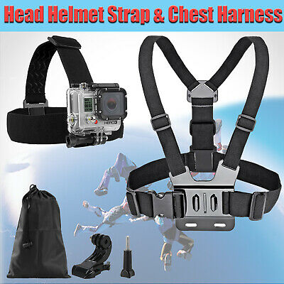 AU13.34 • Buy Chest Harness Mount Head Helmet Strap For GoPro 3+ 4 5 6 Chesty Accessories Kit