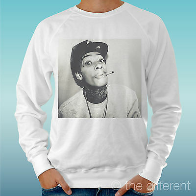 Men's Sweatshirt Light Sweater White   Wiz Khalifa Smoke Music   Road To • 26.64£