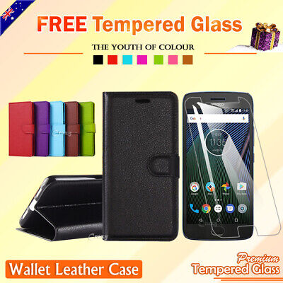 AU7.89 • Buy Motorola Moto G4 Plus Play G5 Plus | C E4 E5 Wallet Card Leather Flip Case Cover