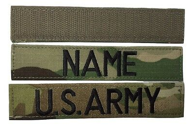 $7.99 • Buy 2 Piece Multicam OCP Name & US ARMY Tape Set, With Fastener - Military