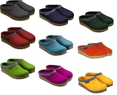 Haflinger Franzl Women's Men's Slippers Blue Red Grey Green Wool Unisex Clogs • 61.69£