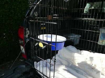 Gilly Bracket - Dog Crate Water Bowl Bracket Inc Non Spill No Spill Travel Bowl • 15£