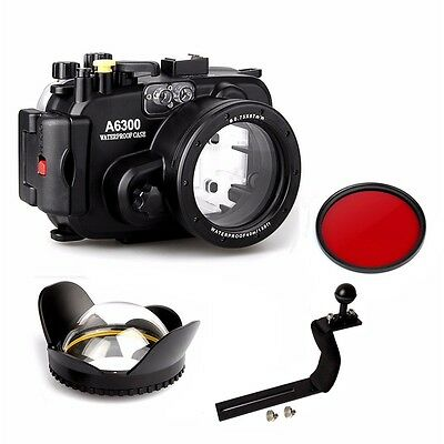 $ CDN389.28 • Buy Underwater Housing Diving Case For Sony A6300 16-50mm Red Filter Arm Dome Port