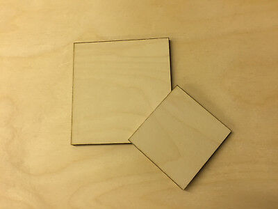Birch Plywood Square Ply Sheet Squares Wooden Wood Board  Sheets Frame Craft  • 14.39£