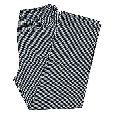 £10.99 • Buy Gingham Check Chef Trousers Pant Black White Elasticated Pull Cord 3 Pockets
