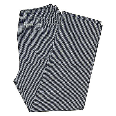 Gingham Check Chef Trousers Pant Black White Elasticated Pull Cord 3 Pockets • 10.99£