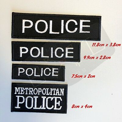 Metropolitan Police Logo Embroidered Patch Sew  Iron-on Patch Badge Police  • 1.99£
