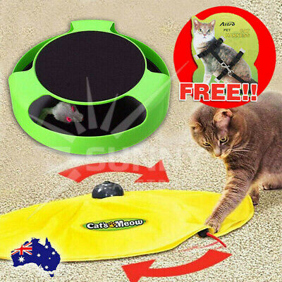 AU14.98 • Buy Electronic Kitten Cat Meow Have Fun Toy Rotating The Mouse Chase Interactive