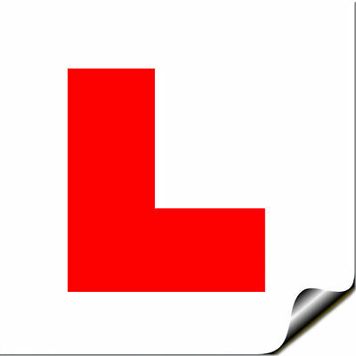 Self Adhesive Sticky L PLATE Motorcycle Motorbike Moper Car Learner Legal • 2.49£