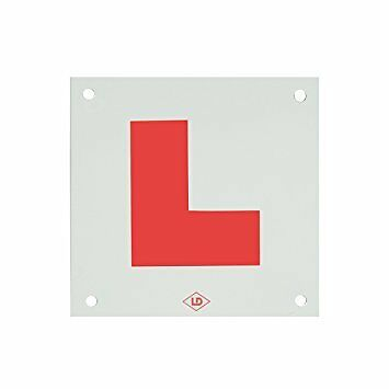 Rigid Hard L Plate With Drilled Holes Motorcycle Moped Car Learner Legal • 2.99£