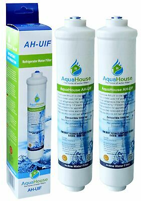 £14.99 • Buy 2x In-Line External Water Filter Compatible With 1/4  American Fridge Freezer