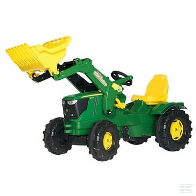 £207.98 • Buy RollyKid John Deere Childrens Pedal 6210R Tractor With Loader Kids Ride On