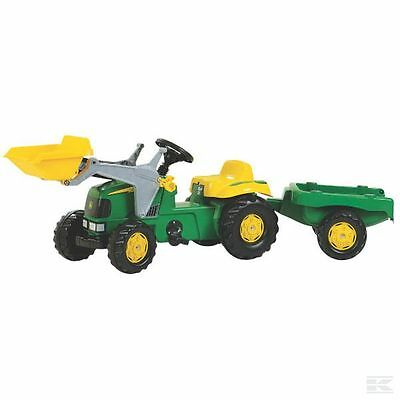 £127.99 • Buy John Deere Childrens Pedal Tractor With Loader And Trailer Kids Ride On Farm Toy