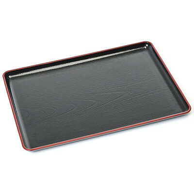 Black Plastic Japanese Lacquer Tray • 25£