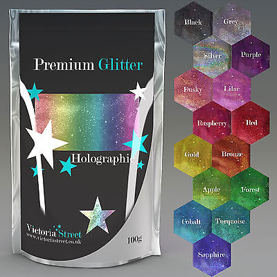 Pure Premium HOLOGRAPHIC Large 100g Ultra Fine Glitter Craft Wine Glass Nails  • 4.49£